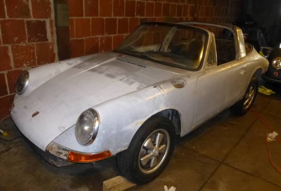 1967 Porsche 911T Soft Window Targa Silver Metallic