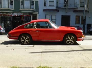 1968 porsche 912 coupe red