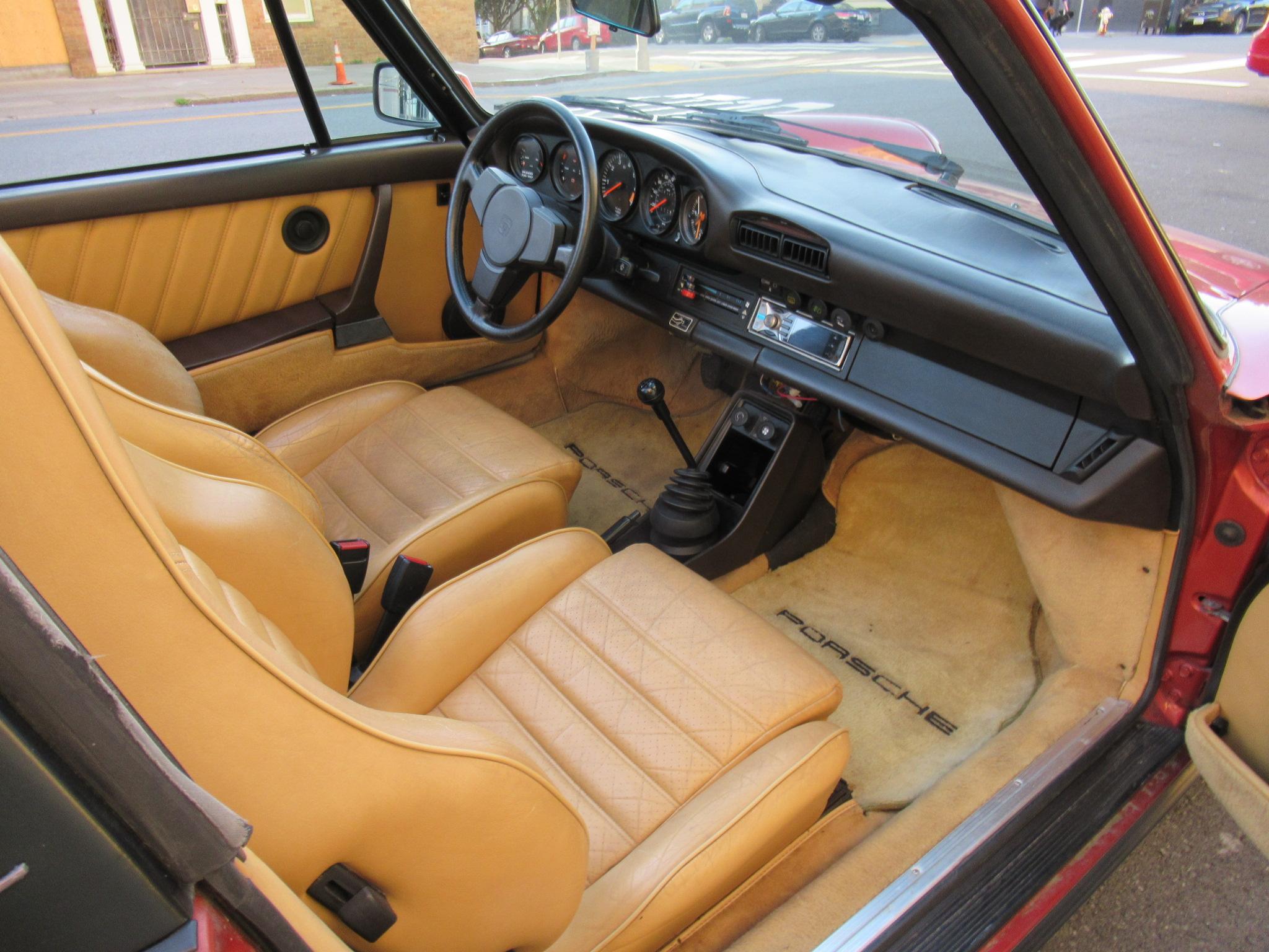 1984 Porsche 911 Carrera Targa Kiln Red Metallic California