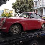 1965 porsche 356c coupe ruby red