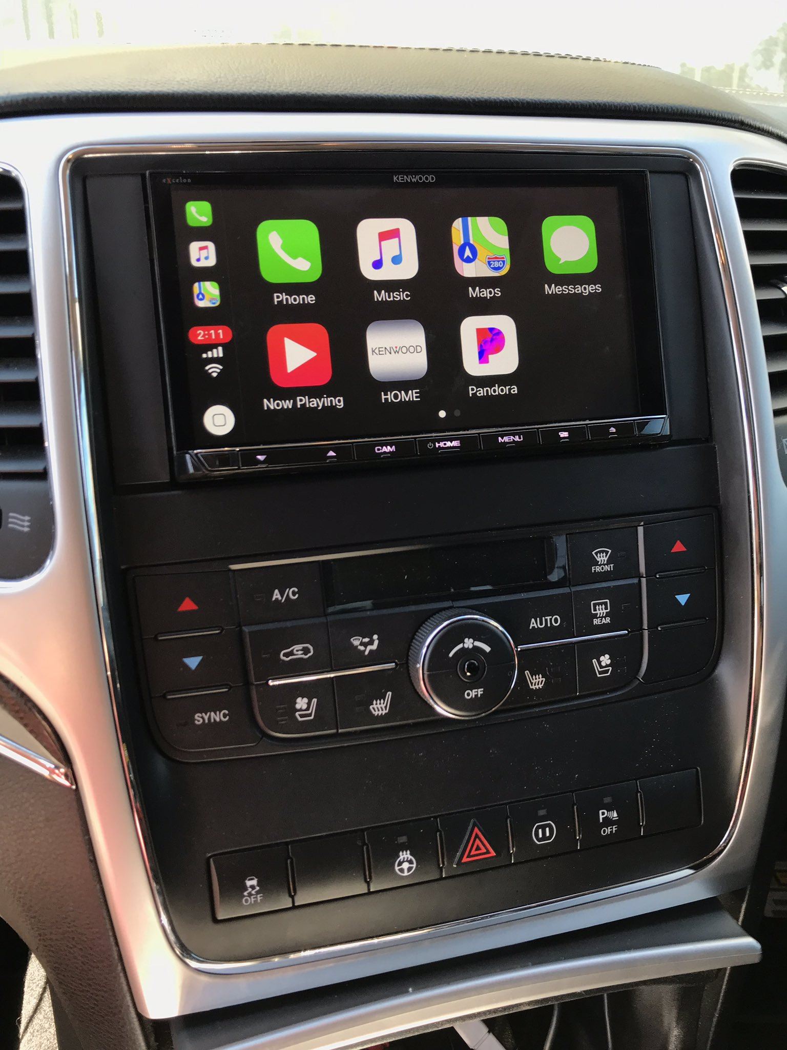 Carplay Installs Kenwood Excelon Ddx 9905s In A 2012 Jeep Grand