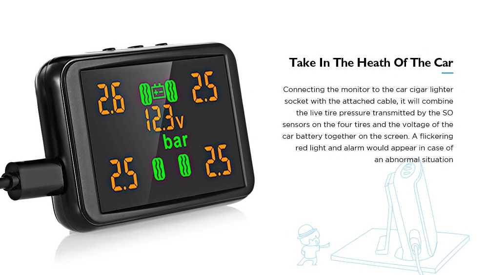 Gocomma EK215 Tire Pressure Monitor