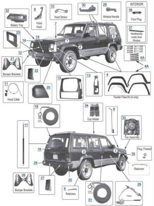 1999 Jeep Cherokee Parts Diagrams | Automotive Parts