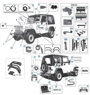2000 Jeep Wrangler Parts Diagram | Automotive Parts