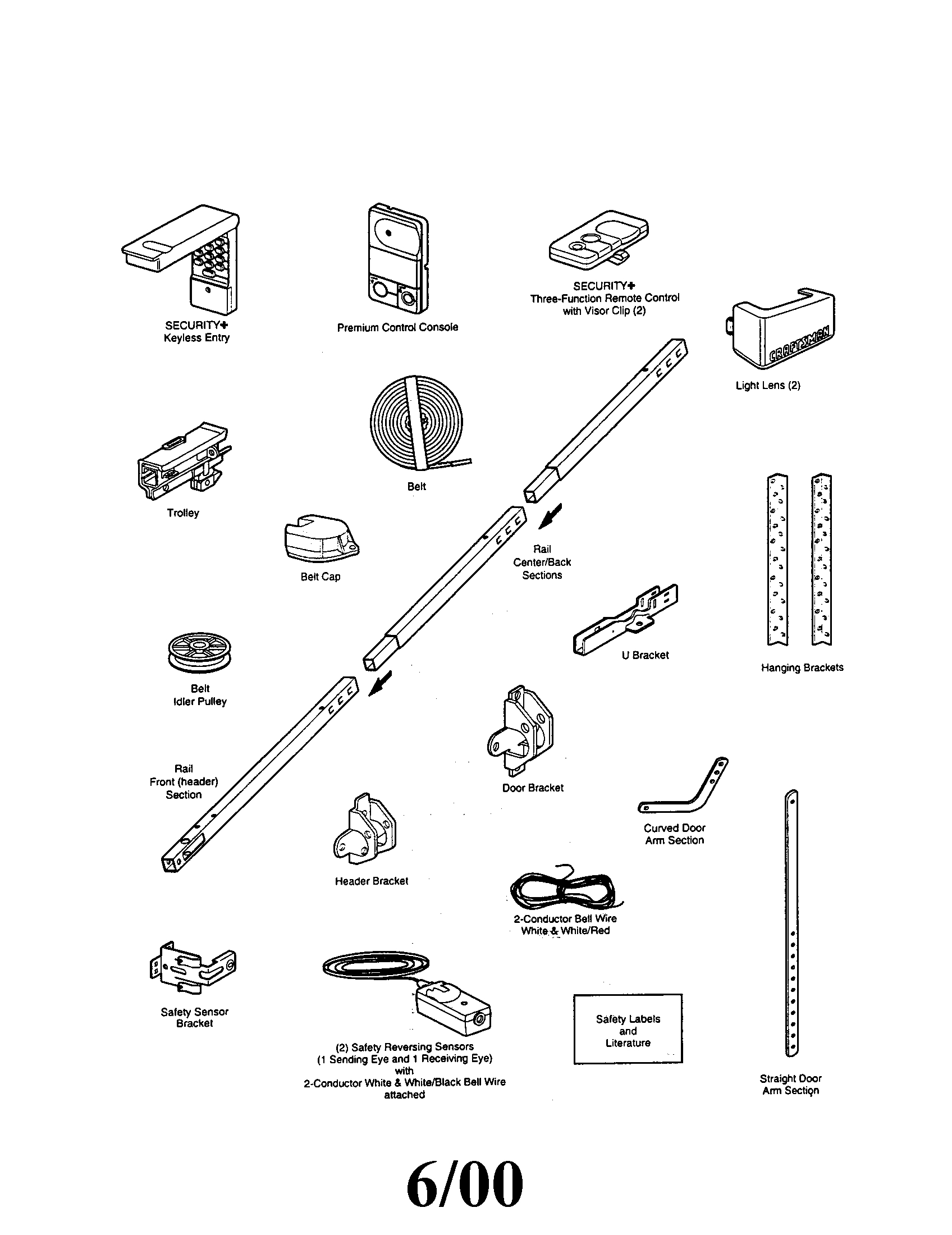 Chamberlain Garage Door Opener Parts Diagram