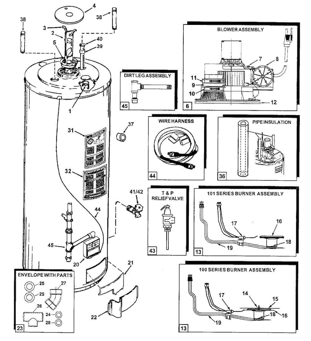 Dual Element Hot Water Heater Wiring Diagram : 44 Wiring