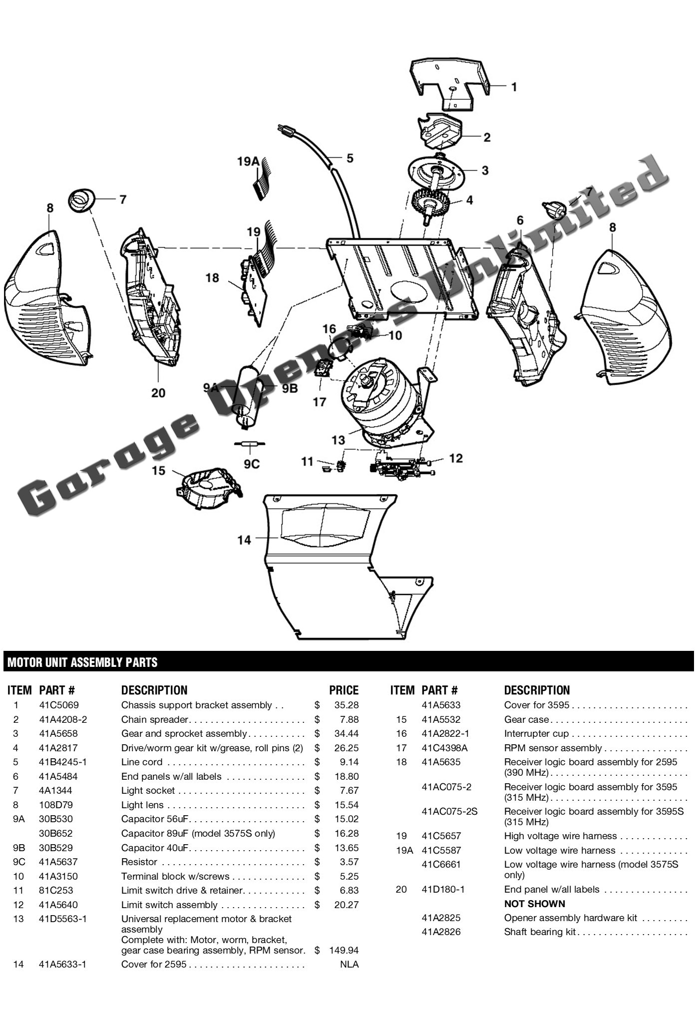 Wiring Diagram Craftsman Garage Door Opener