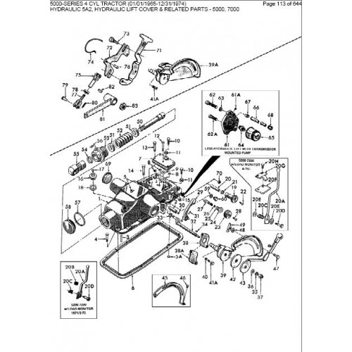 Ford 3910 Parts Diagram