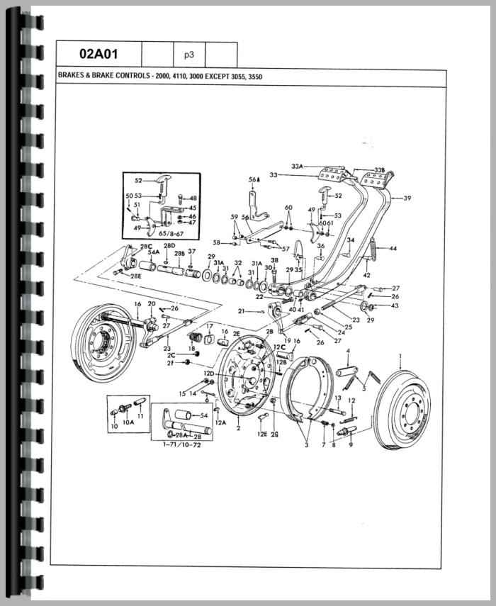 Ford 3000 Tractor Parts Breakdown