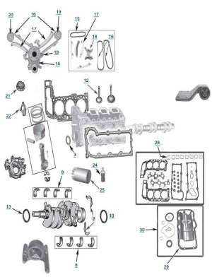Jeep Liberty 37L Engine Parts | Free Shipping At 4Wd for 2005 Jeep Liberty Parts Diagram