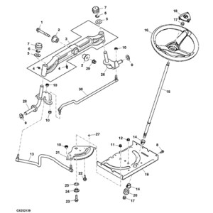 John Deere Stx38 Parts Diagram | Automotive Parts Diagram