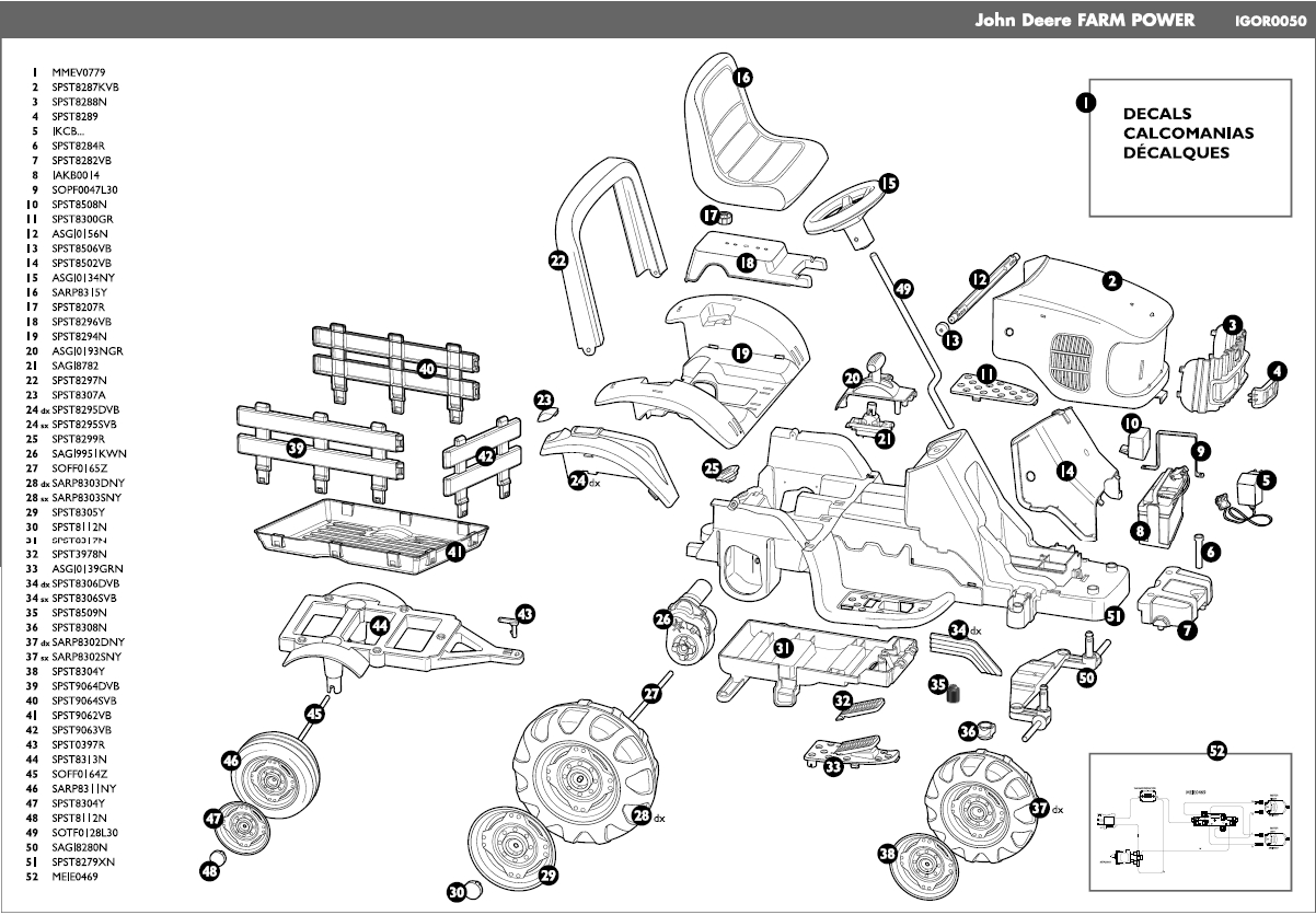 John Deere Lawn Mower Parts Diagram
