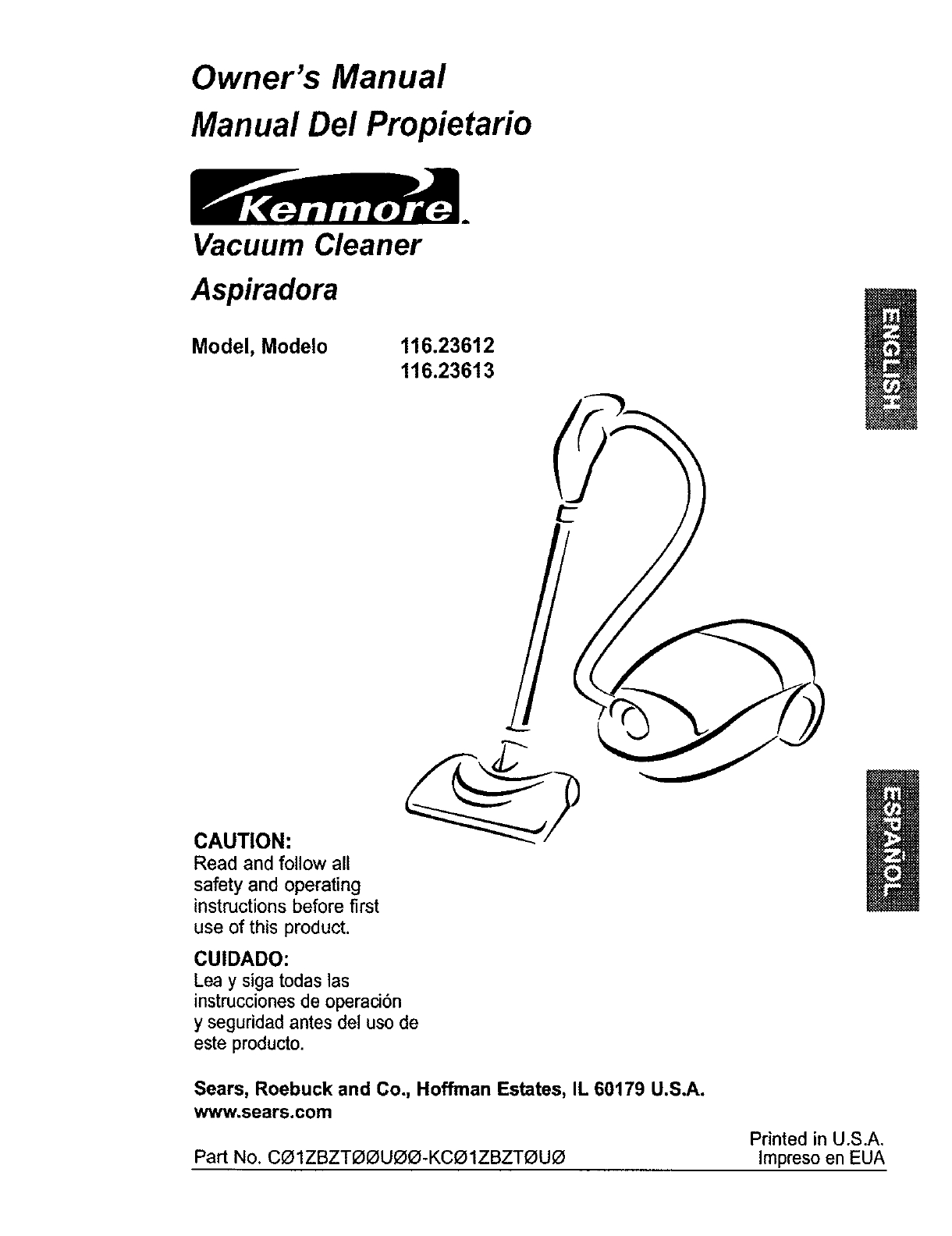 Kenmore Vacuum Model 116 Parts Diagram