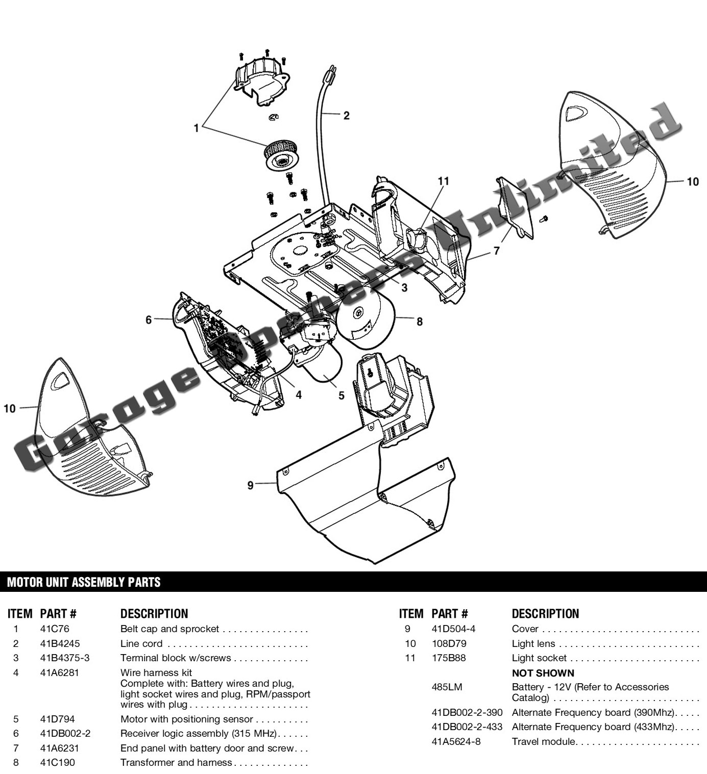 Jackson Door Parts Diagram