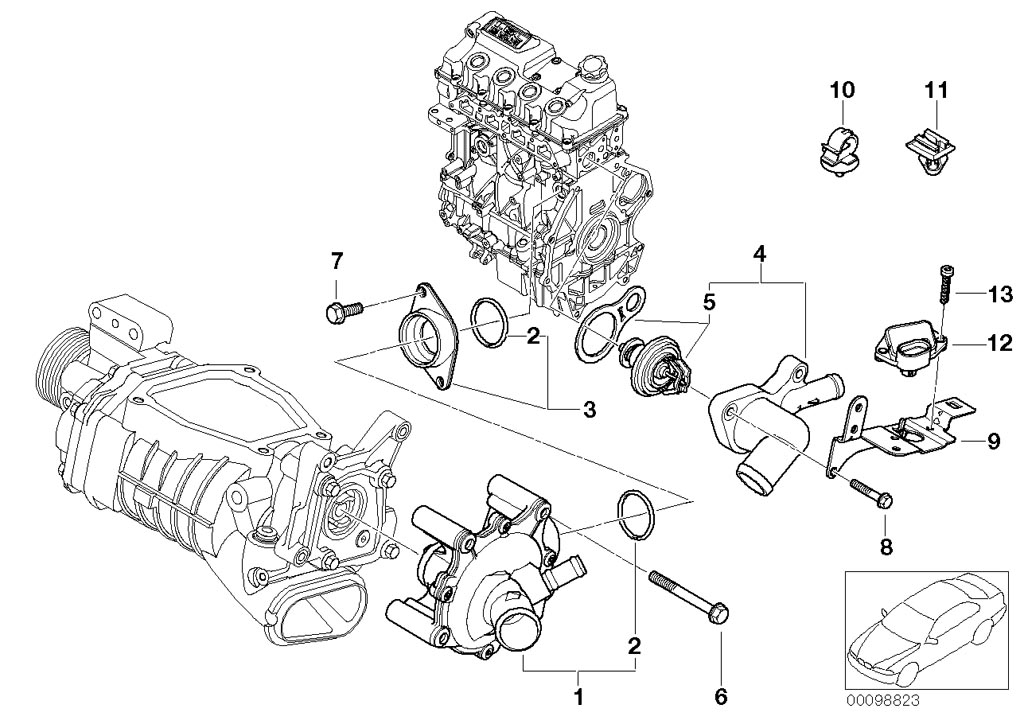 Mini Cooper S R53 Parts Diagram