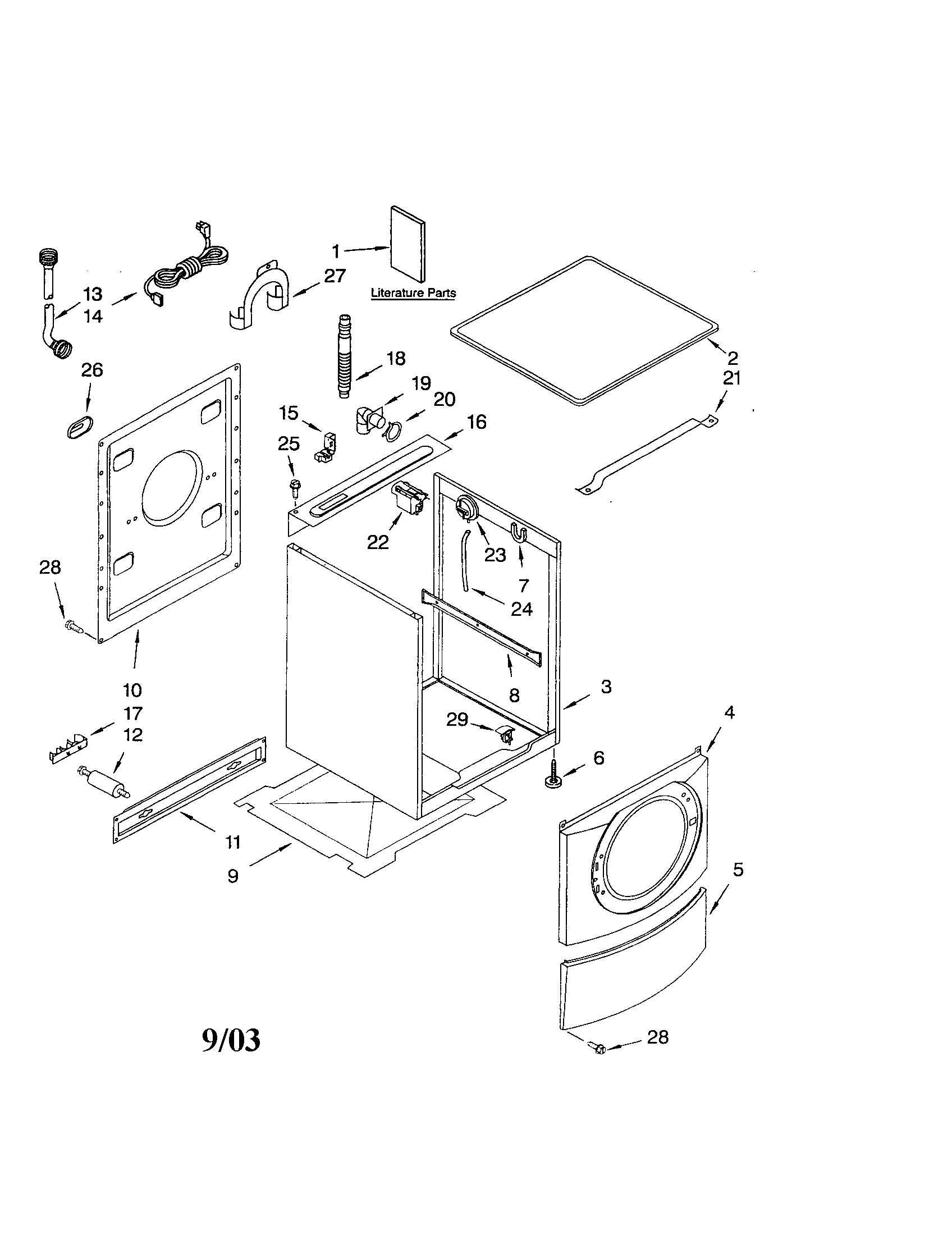 Kenmore 90 Series Washer Parts Diagram