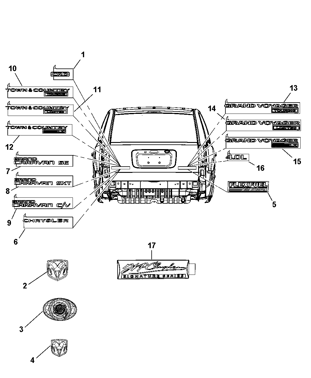Chrysler Town And Country Parts Diagram