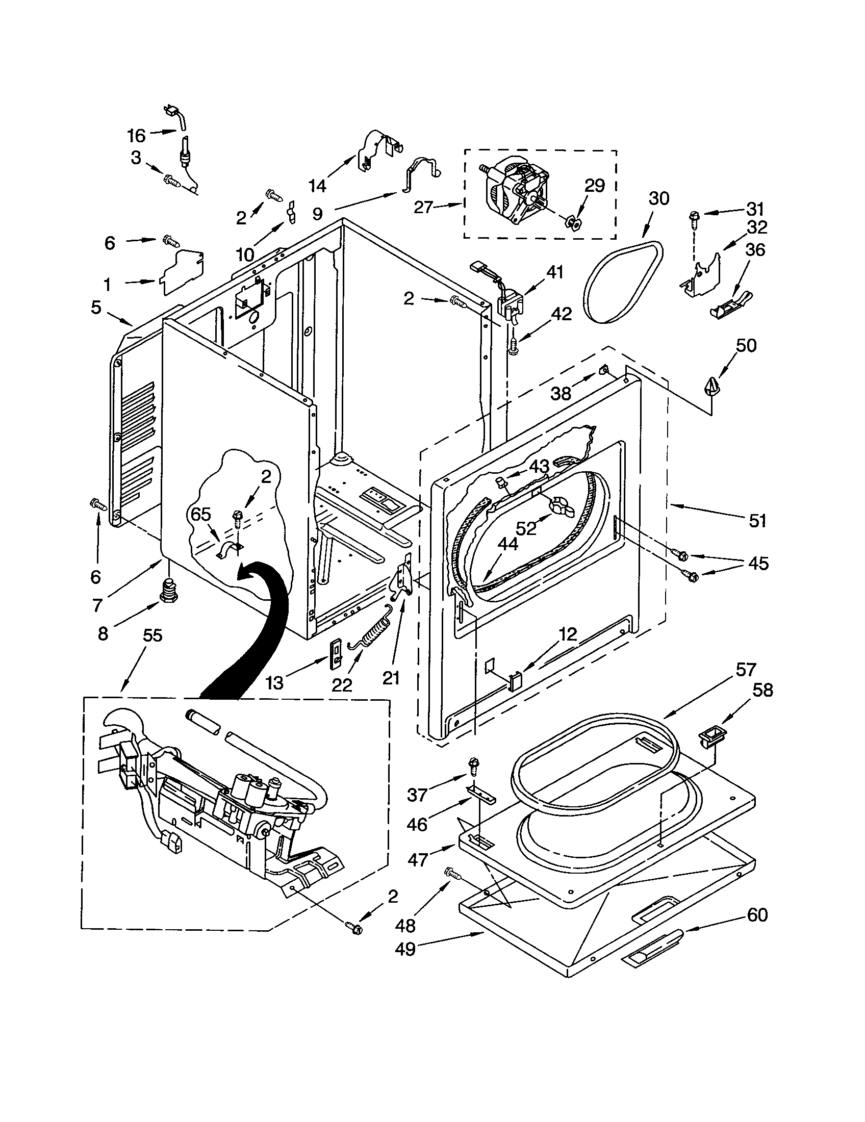 Kenmore 90 Series Dryer Parts Diagram Periodic