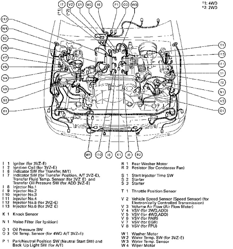 1995 Toyota 4runner Heater Hose Diagram