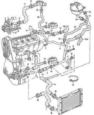 Vw 18 T Engine Diagram | Automotive Parts Diagram Images