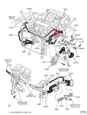 2001 Mercury Sable Engine Diagram | Automotive Parts