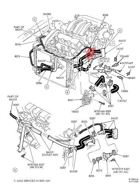 2000 Ford Explorer Cooling System Diagram