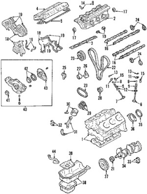 2003 Kia Sorento Engine Diagram | Automotive Parts Diagram