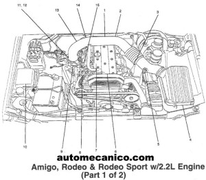 2002 Isuzu Rodeo Engine Diagram | Automotive Parts Diagram