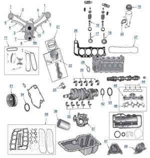 Wj Grand Cherokee 47L Engine Parts  4 Wheel Parts with