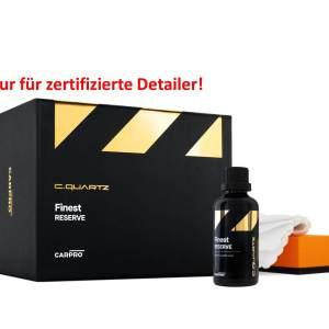 Produktabbildung schwarzer Karton und kleines Glasfläschen und Schwamm