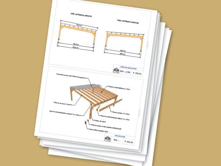 Plans De Carports Et Abris Voiture Guide De Construction Des Carport Abri Voiture Et Preau