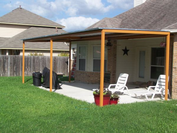 metal patio covers awnings Custom Steel Patio Cover Awning New Braunfels Texas