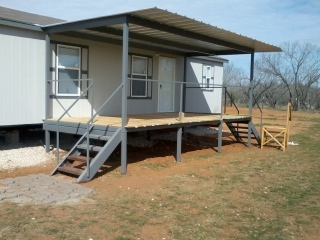 all steel awning patio cover deck ramp