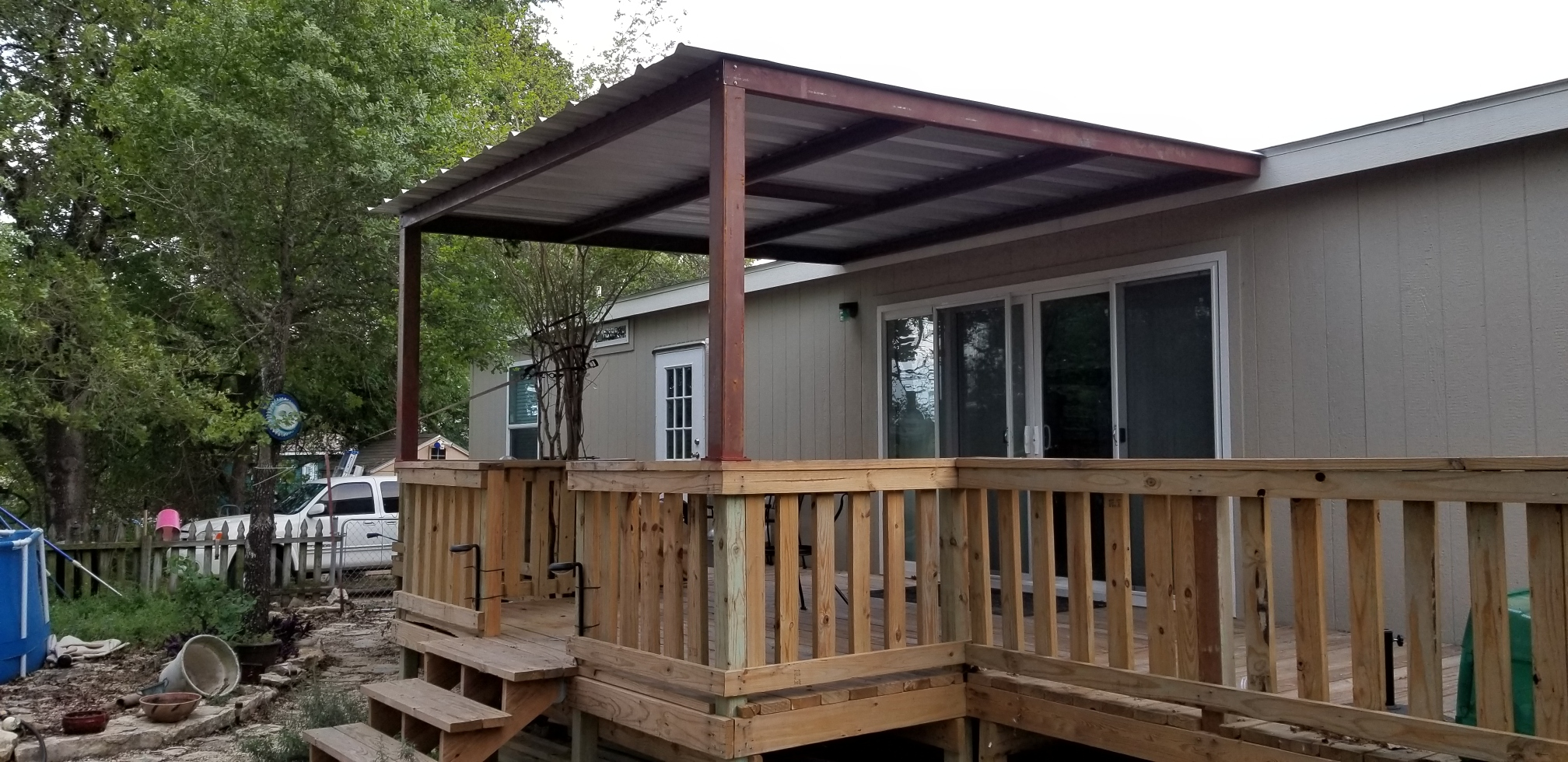 small deck and patio cover wilson