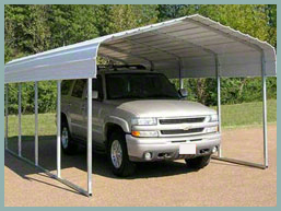 Steel Buildings Classic one car  carport