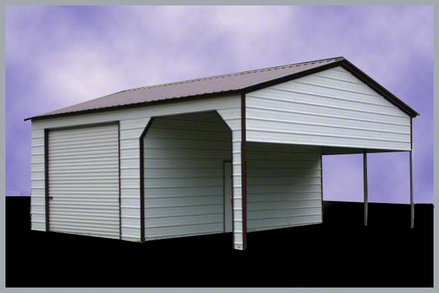 Steel Buildings Combination Carport and Storage