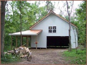 steel buildings home type for the back woods or a cabin on the Water.