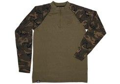 Long Sleeve Zipped Top Khaki:Camo