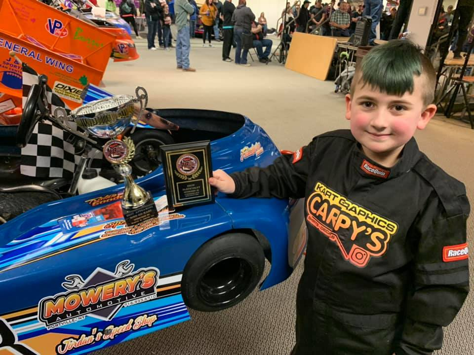 Tristin Goodell's award winning kart wrap from the 2020 Olean Mall Stock Car Show