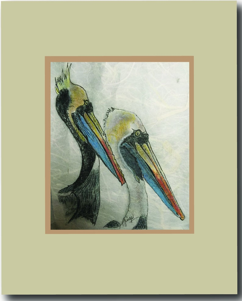 Two Pelicans