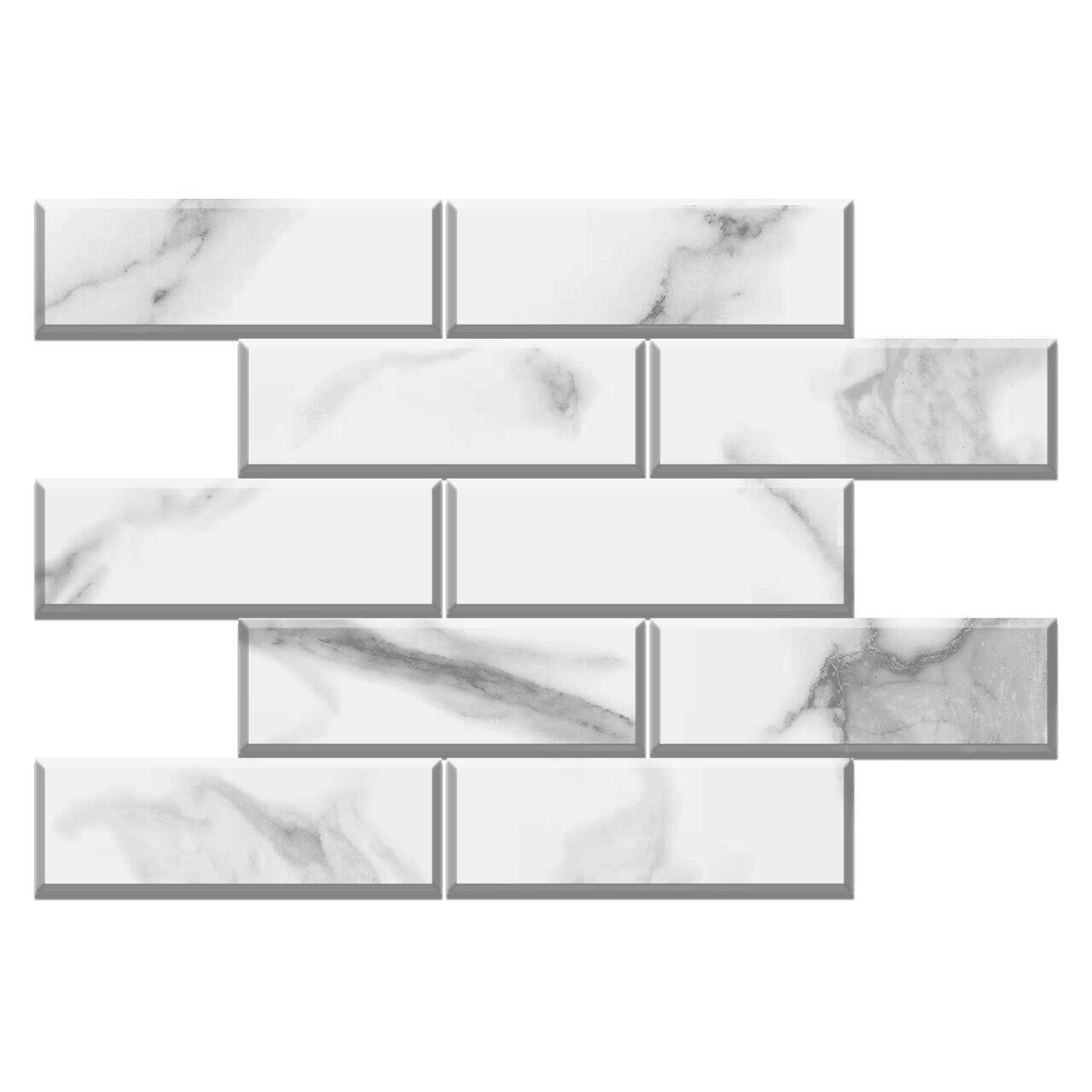 4x12 calacatta gold italian marble wide bevel subway tile polished