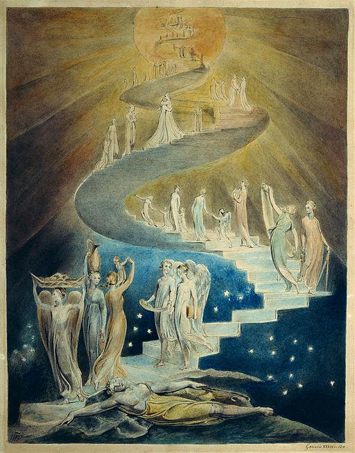 "William Blake: ""La escalera de Jacob""."