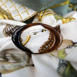 Anneau Classique Horn Scarf Ring with HERMES 36 Carre