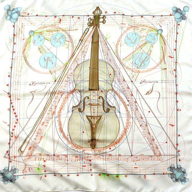 La Musique Des Spheres HERMES Silk Carre 90 cm