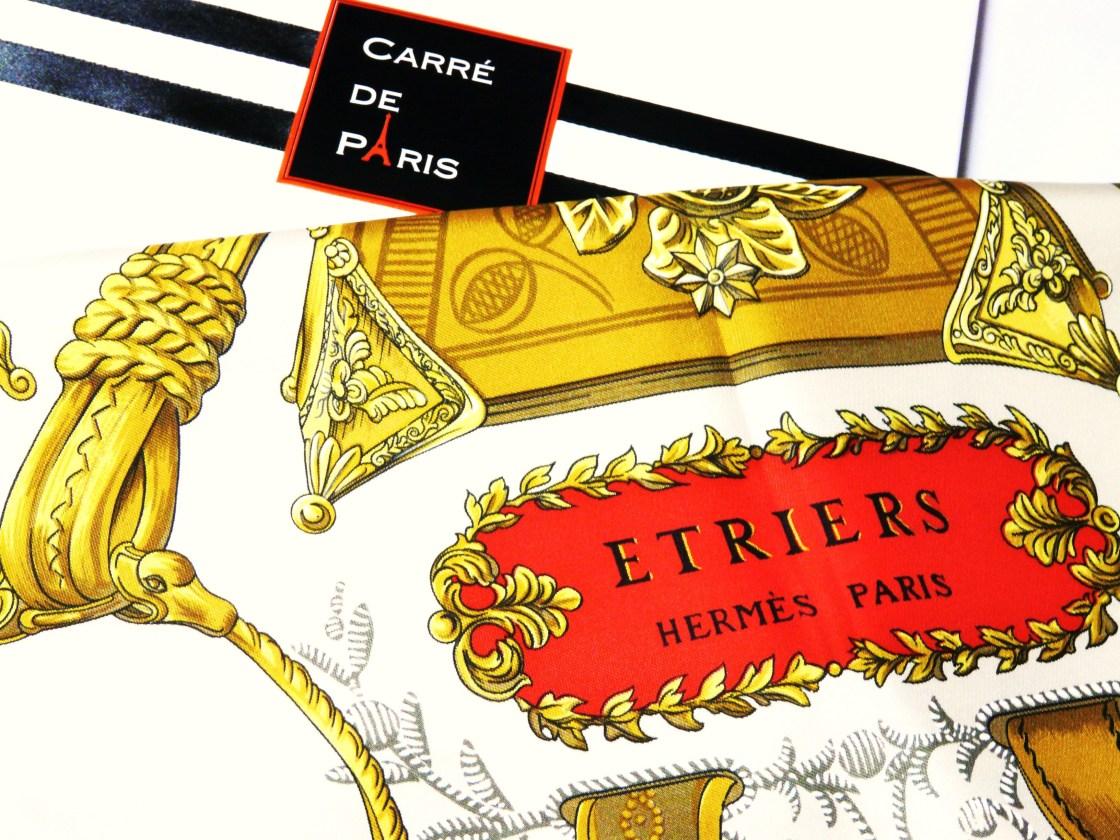 Hermès Etriers carré by Françoise de la Perriere, 1964