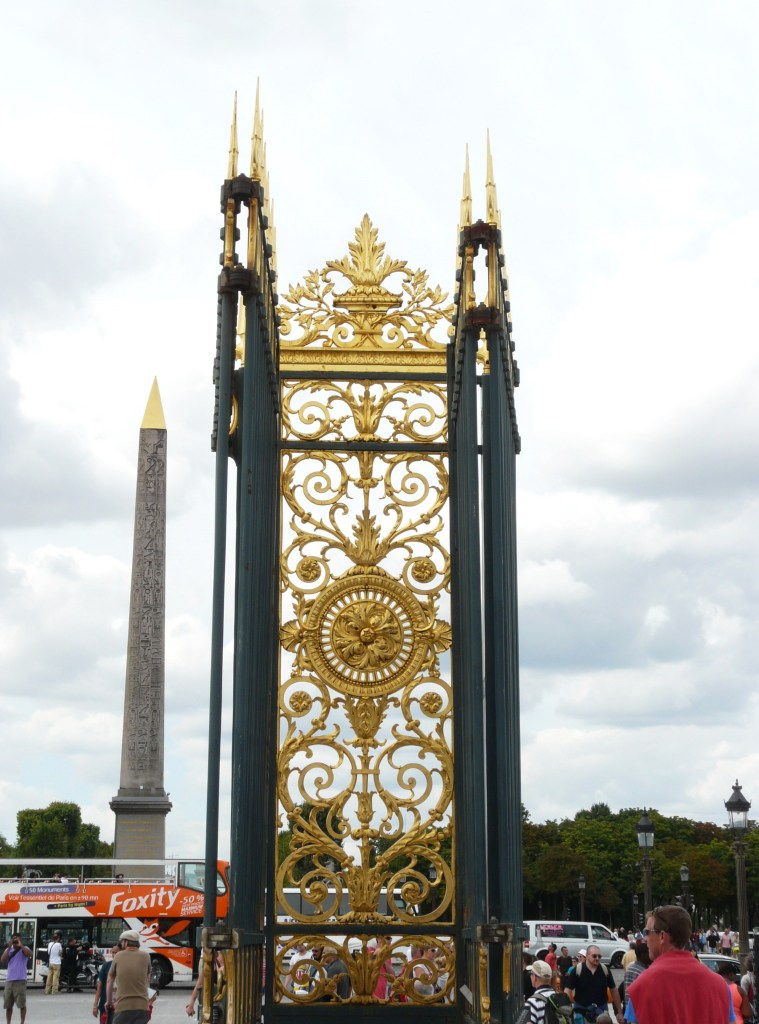 Entrance to Les Tuileries in Paris, France