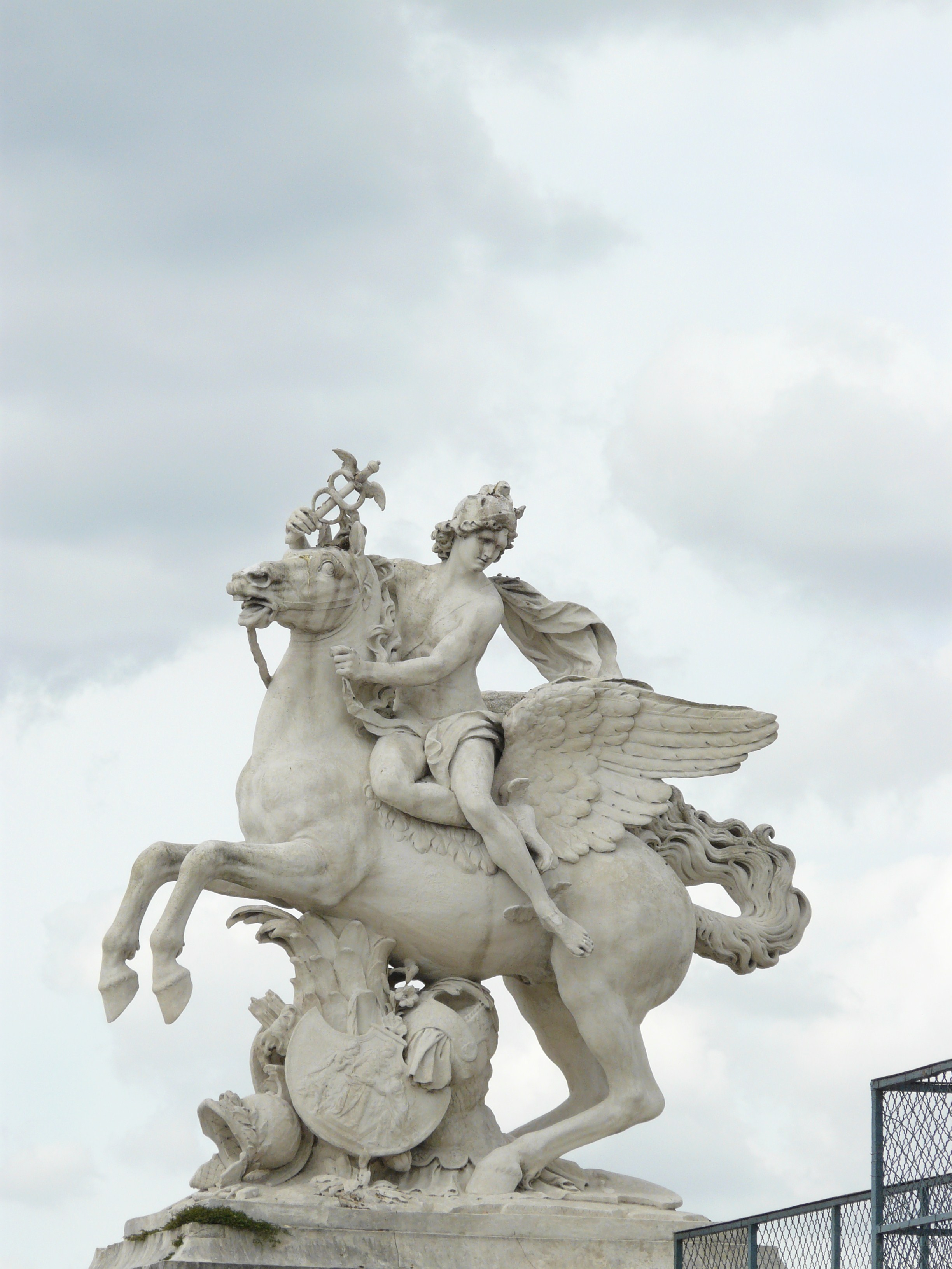 Mercury riding Pegasus near the west entrance of Tuileries, Paris