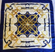 Eperon d'Or Hermes Scarf Blue 2