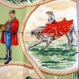 Auteuil en Mai HERMES Silk Scarf RARE 1997 Detail