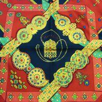 Brins d'Or HERMES 36 inch Vintage Silk Scarf